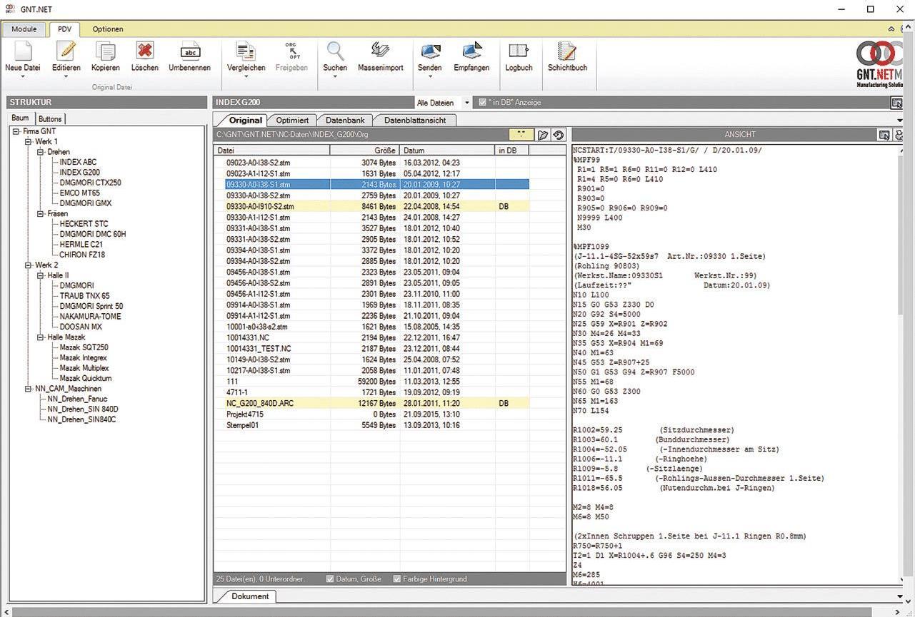 Benutzerfreundliche Oberfläche von GNT.NET