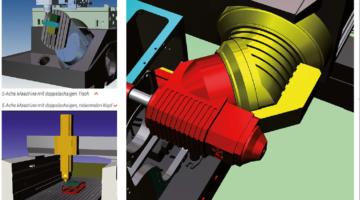 Visualisierungen von 5-Achs Maschinen.