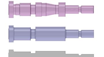 Mit SpaceClaim kann aus einem 3D-CAD-Modell schnell ein 2D Modell geschaffen werden.