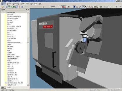 Für die Maschinen von Doosan MX einsetzbares System.