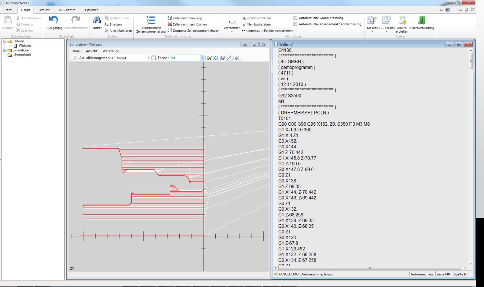 Kinderleichtes Editieren von bestehenden Programmen mit NumericNotes.